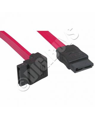 SATA SATA2 Serial ATA Cable 7 pin Right Angle 1 end