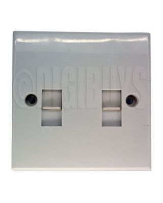 Twin Dual RJ11 2P2C Wall Plate socket Telephone Modem
