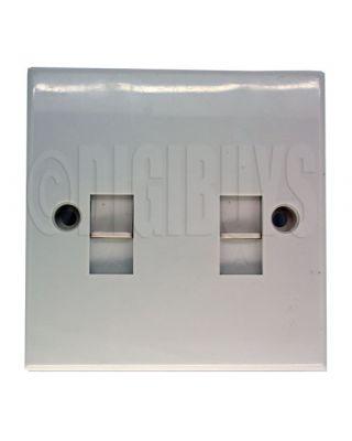 Twin Dual RJ11 2P2C Wall Plate socket Telephone Modem