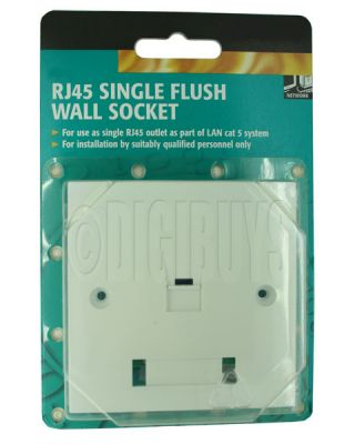 RJ45 Single Socket Wall Face Plate CAT5E Network LAN