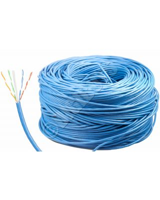 305M CM (IN WALL) RATED CAT6 REEL ROLL UTP FAST NETWORK CABLE GIGABIT LEAD BLUE
