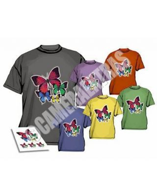 Iron On T-shirt Transfer Paper for DARK FABRICS Inkjet Printer X 5 Sheets