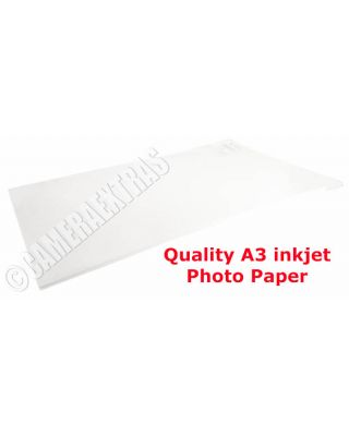 A3 180gms Quality Glossy Inkjet Photo Printer Paper Pack 20 sheets White