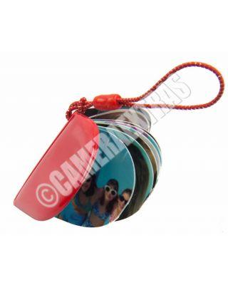 Mini Heart Pocket DIY Inkjet PhotoBook Album Kit Keyring Charm Small Red