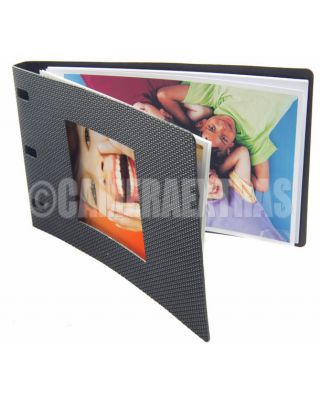 "4x6"" DIY Photo Book Photobook Black Grain Cover Kit Software Glossy Paper"