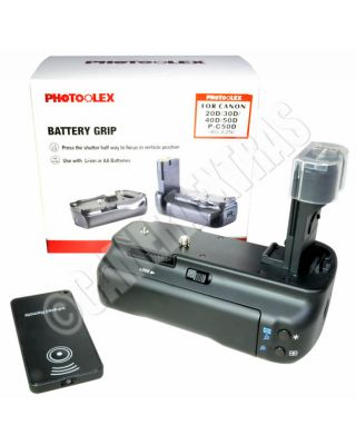 Vertical Battery Grip + IR Remote Control for Canon EOS 20D/30D/40D/50D T1i X