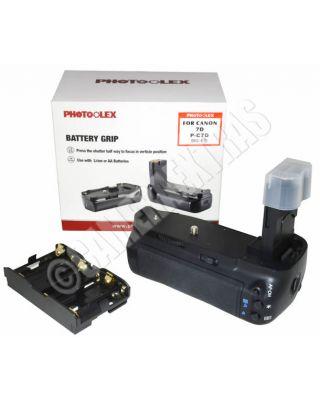 Photoolex Pro Vertical Battery Grip for Canon EOS 7D BG-E7 BGE7