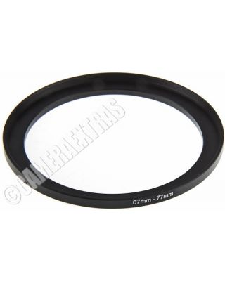 67mm to 77mm Lens STEP UP Stepping Ring Filter Adapter Converter Canon Nikon