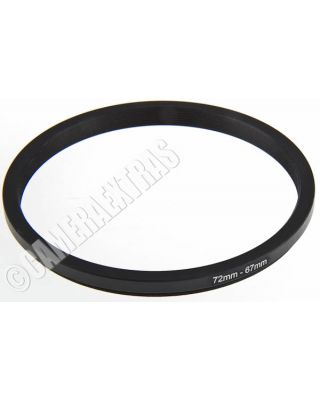 72mm to 67mm Lens STEP DOWN Stepping Ring Filter Adapter Converter Canon Nikon