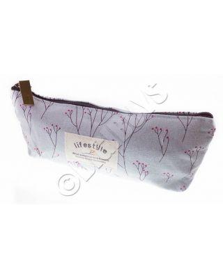 Floral Pencil Case Cosmetic Makeup Storage Bag Pouch Purse Baby Blue/Flower