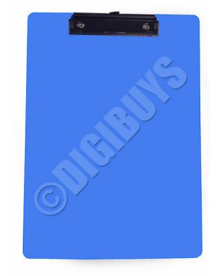 Quality A4 Size Clipboard Clip Board Folder Paper Pad Plastic - Blue