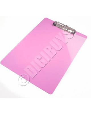 Quality A4 Size Clipboard Clip Board Folder Paper Pad Plastic- Pink