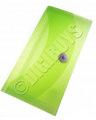 Expanding File Organiser Folder Wallet Receipts Paperwork Filing Coloured Tabs - Green