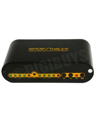 Digital Optical Toslink SPDIF True Audio Matrix Splitter Switch Switcher 4X2 UK