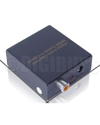 Digital Optical Toslink to Coaxial SPDIF Coax Signal Converter Adapter  Splitter
