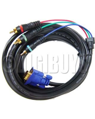 VGA / SVGA to 3 RCA Component Cable Video pc tv
